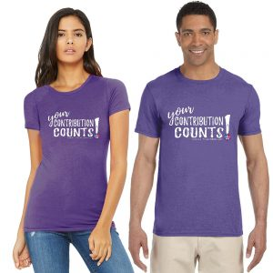 Your Contribution Counts t-shirt